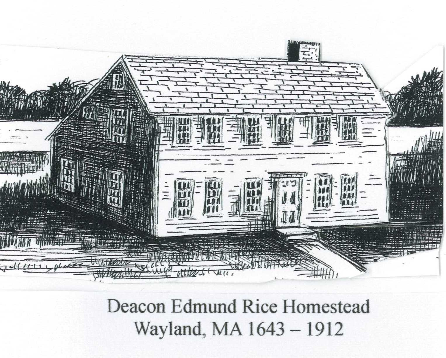 Edmund Rice Homestead at East Sudbury